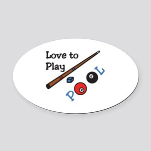 Love to Play Oval Car Magnet