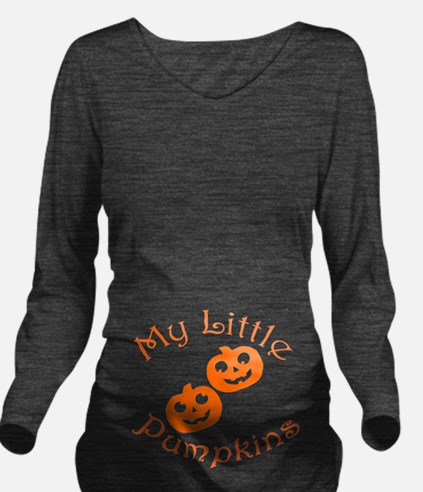Little Pumpkins Long Sleeve Maternity T-Shirt