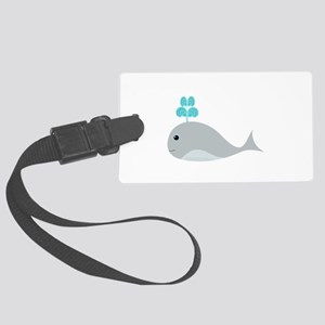 Cute Gray Baby Whale Luggage Tag