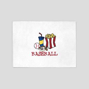 Baseball Treats 5'x7'Area Rug
