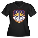 USS MITSCHER Women's Plus Size V-Neck Dark T-Shirt