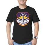 USS MITSCHER Men's Fitted T-Shirt (dark)