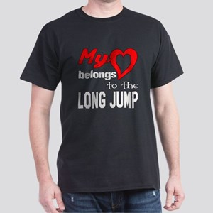 My Heart belongs to the Long Jump Dark T-Shirt