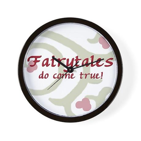 Fairytales Pink Wall Clock