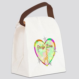 Giraffe Lover Canvas Lunch Bag