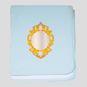Jeweled Framed Mirror baby blanket