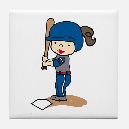 Girl Batter Tile Coaster