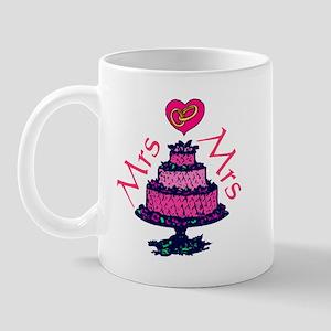 Mrs and Mrs Cake Mug