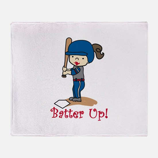 Batter Up! Throw Blanket