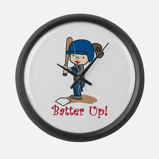 Batter Up! Large Wall Clock