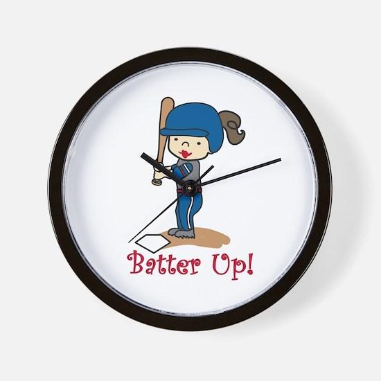 Batter Up! Wall Clock
