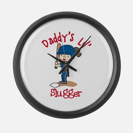 Daddys Lil Slugger Large Wall Clock