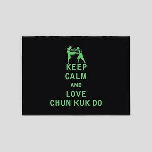 Keep Calm and Love Chun Kuk Do 5'x7'Area Rug