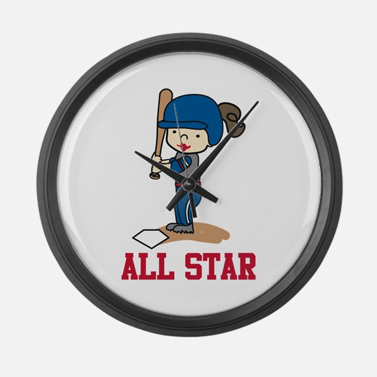 All Star Large Wall Clock