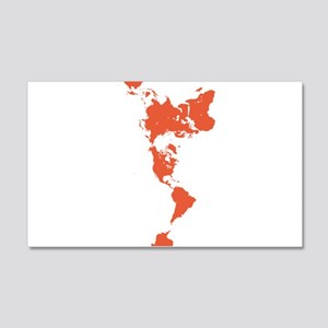 New Perspectives World Map - Red Wall Decal