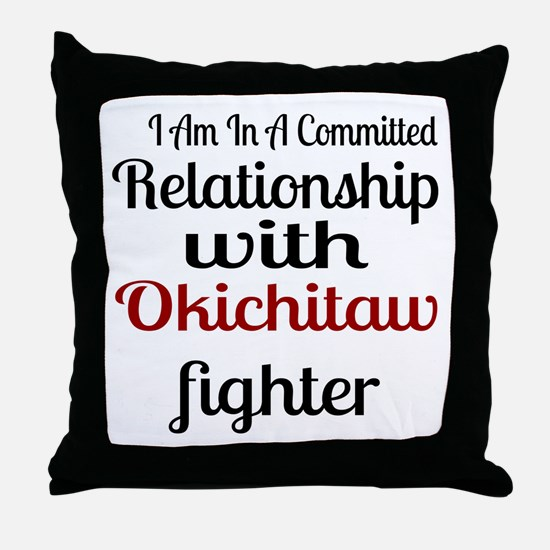 Relationship With Okichitaw Fighter Throw Pillow