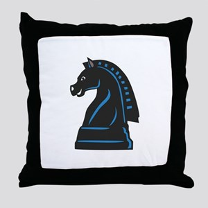 Chess Piece Knight Horse Throw Pillow