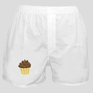 Chocolate Muffin Dessert Cake Boxer Shorts