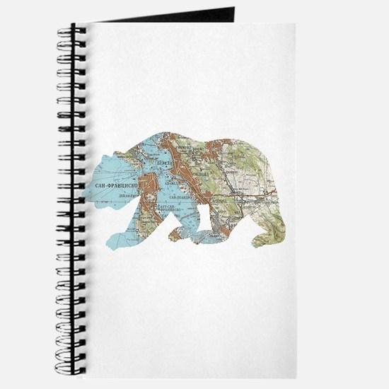 San Francisco Soviet Bear Map Journal