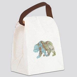 San Francisco Soviet Bear Map Canvas Lunch Bag