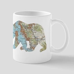 San Francisco Soviet Bear Map Mugs