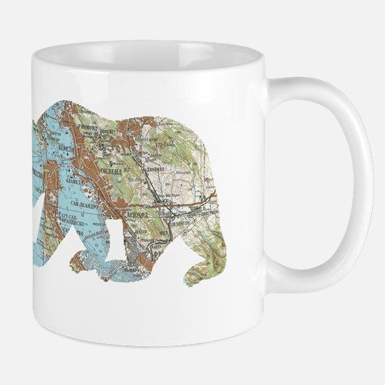San Francisco Soviet Bear Map Mugs