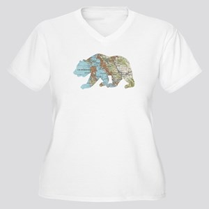 San Francisco Soviet Bear Map Plus Size T-Shirt