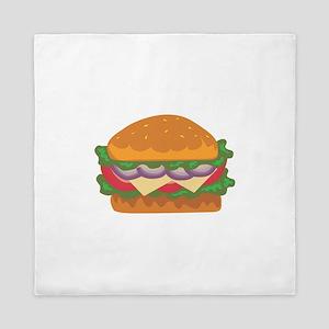 Hamburger Fast Food Meat Queen Duvet