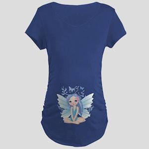 Watching Butterflies - Maternity Dark T-Shirt