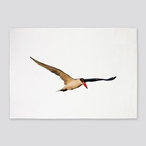 Royal Tern in Flight 5'x7'Area Rug