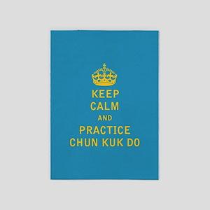 Keep Calm and Practice Chun Kuk Do 5'x7'Area Rug