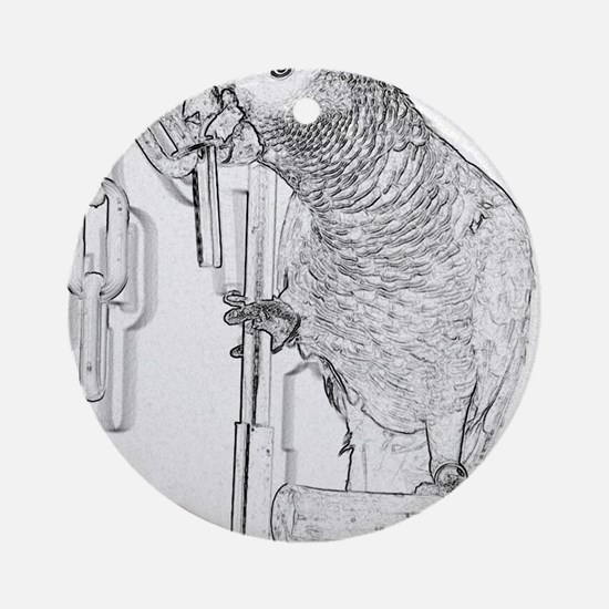 Congo African Grey Ornament (Round)