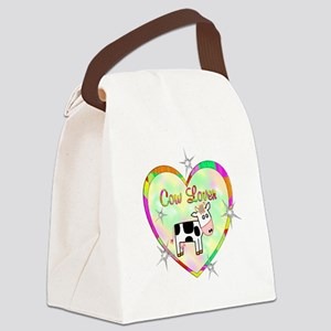 Cow Lover Canvas Lunch Bag