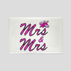 Mrs & Mrs Rectangle Magnet