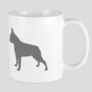 boston terrier gray 2 Mugs