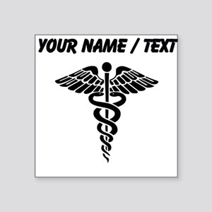 Custom Medical Caduceus Sticker