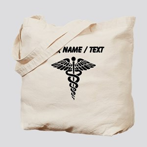 Custom Medical Caduceus Tote Bag