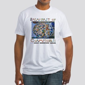 Breakfast of Champs White Fitted T-Shirt