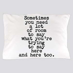 Ten Line Custom Message Pillow Case