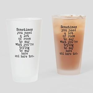 Ten Line Custom Message Drinking Glass