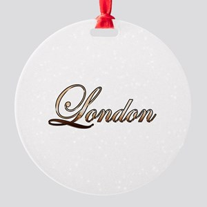 Gold London Round Ornament