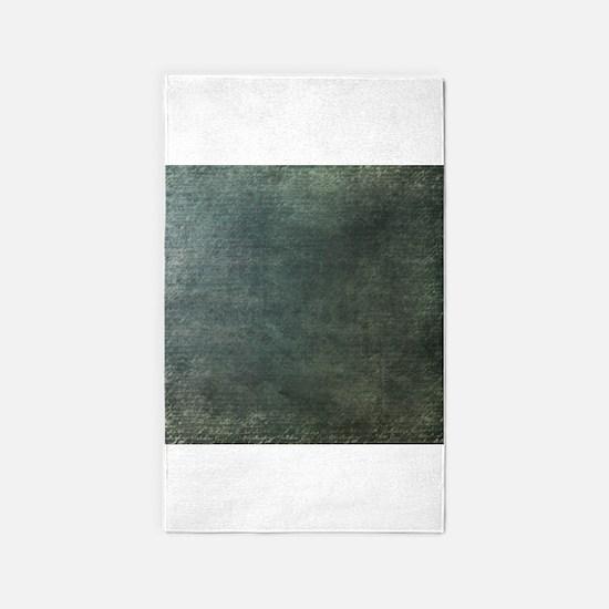 Green script linen texture 3'x5' Area Rug