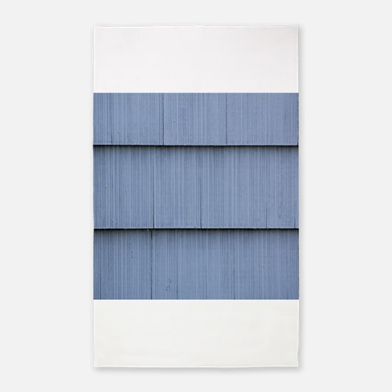 Blue grey shingle image 3'x5' Area Rug