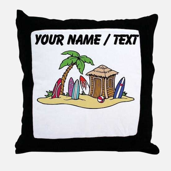 Custom Surf Shack Throw Pillow