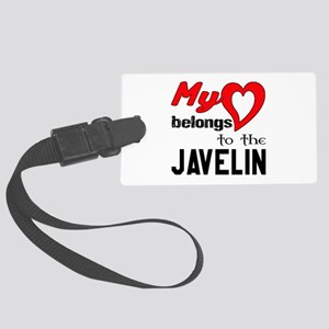 My Heart belongs to the Javelin Large Luggage Tag