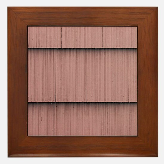 Mauve shingle image Framed Tile
