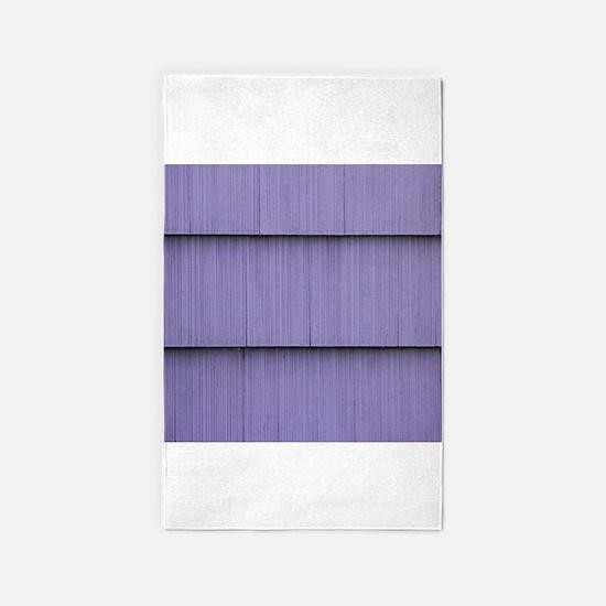 Purple shingle image 3'x5' Area Rug