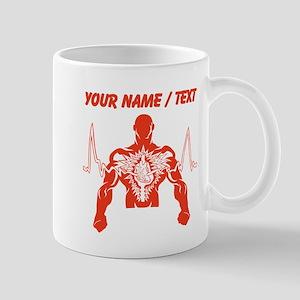Custom Red Cardiogram Man Mugs