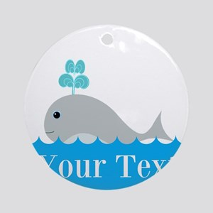 Personalizable Gray Whale Ornament (Round)