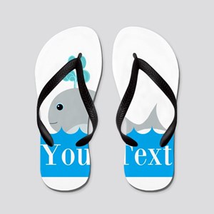 Personalizable Gray Whale Flip Flops